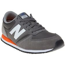 New Mens New Balance Grey 420 Suede Trainers Retro Lace Up