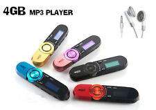 "4GB MP3 Player 1.2"" LCD Screen, Scroll Wheel FM Radio WITH RECHARGEABLE BATTERY"