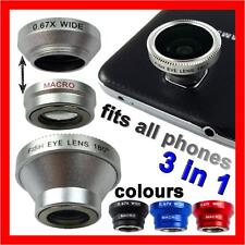 Camera Lens Kit Fish Eye Wide Angle Macro for Samsung Galaxy S6 S5 S4 S3 Note 3