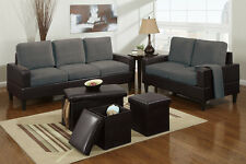 Small 5 Piece Sofa Set and Loveseat Microfiber Sofas