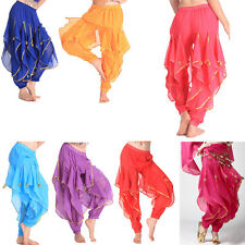 New Indian Sequins Belly Dance Pants Clothes Sexy Wave Pants & Trousers
