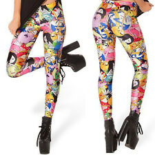 2014 Hot NEW Adventure Time Digital Print Women Tights Pants Shiny Leggings