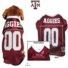NCAA Pet Fan Gear TEXAS A&M AGGIES Dog Jersey Shirt for Dogs BIG SIZE XS-2XL