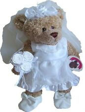 Build Your Bears Wardrobe Teddy Bear Clothes Wedding Bride Dress Veil Flowers