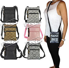 Designer Style Ladies Mens Cross Body G Bag Purse Wallet Travel Satchel