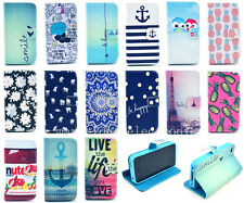 Card Holder Flip Hybrid Wallet PU Leather Case Cover Purse For Apple iPhone 4 4S