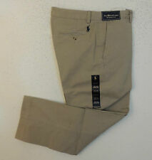 Men Polo Ralph Lauren Navy Pony Twill Jeans Chino Flat Preston Khaki Pants 42 30