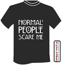 Normal People Scare Me American Horror Story Fashion Funny T-Shirt Top Men Women