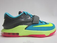 NIKE KD VII GS CARNIVAL 669942 300 NEW SIZE 4.5Y-7Y HYPER JADE VOLT PINK DS