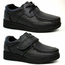 BOYS SMART DRESS SHOES WEDDING FORMAL BLACK WALLABEES BACK TO SCHOOL SHOES SIZE