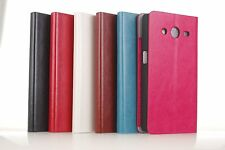 Leather Case Cover Card Slot Stand For Samsung Galaxy Core II 2 G355H