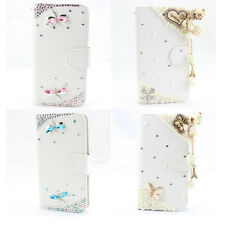 1x HOT 3d bling fashion leather wallet flip diamond case cover Alcatel one touch