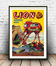 Lion Annual :  Old  Comic book poster reproduction
