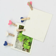 100 x New Mini Heart Wooden Peg Clip Kids Crafts Party Favor Supply 3.5*0.5 cm