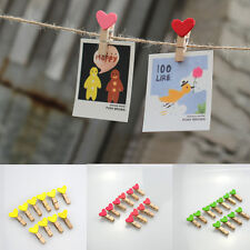 10/50 x New Mini Heart Wooden Peg Clip Kids Crafts Party Favor Supply 3.5*0.5 cm