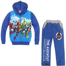 Kids Boys Girls The Avengers The Hulk Iron Man Hoodie+Pants Suits Outfits 2Y-7Y
