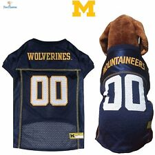 NCAA Pet Fan Gear MICHIGAN WOLVERINES Dog Jersey Shirt for Dogs BIG SIZE XS-2XL