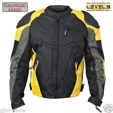 Xelement CF625 Tritex Waterproof Vented Level 3 Armored Motorcycle Jacket Yellow