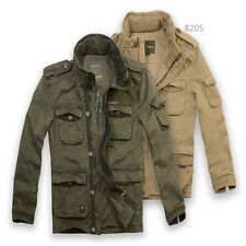 Free Post Sale Mens Safari Military PREMIUM cotton JEEP falow Parka Jacket
