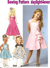 Formal Flower Girl Toddler Dress Sewing Pattern 3350 Butterick NEW 3-8