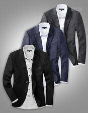 New Mens Blazer Suit Jacket Black Blue Grey