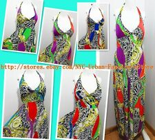 Fashion Halter Style Colorful Pattern Long Sundress Party/Evening Dress/Gown