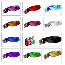 1M NOODLE RIBBON MICRO USB  CHARGER CABLE LEAD WIRE FOR NOKIA ASHA 306