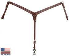 Tahoe Red River Breast Collar with Spots USA Leather Full Horse