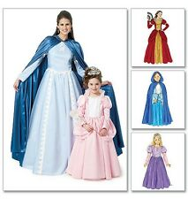 McCalls 6420 Princess Dress Cape Costume Sewing Pattern M6420 Medieval Story