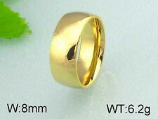 8mm Gold Band - Stainless Steel Ring - Comfort Fit - R77