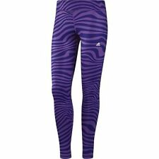 Adidas Climalite Leggings Tights for Running Gym Fitness Yoga Purple Colour BNWT