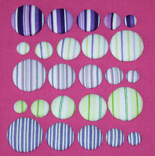 MULTI STRIPE FABRIC COVERED BUTTONS available in 12, 15, 20, 25, 30, 40mm size