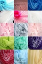 """SOFT NET STRECH TULLE FABRIC 60""""W 1/2-20 YARDS LOT MANY COLORS"""