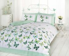 Green Butterfly Duvet Cover Quilt Bedding Set Single Double King Size