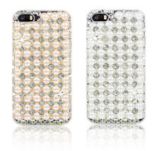 Crystal Bling Diamond Pearl Fitted Hard Back Case Cover For Apple Samsung Phones