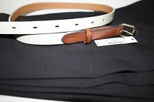 NWT Madewell Women Genuine Leather Skinny Belt Size M