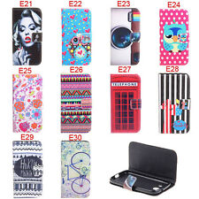 Deluxe E Design Flowers Wallet Leather Flip Case For Samsung Galaxy Core i8262