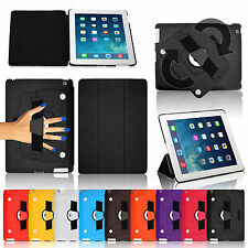 New Hand Strap Leather Wallet Smart Book Stand Case Cover for iPad AIR Retina