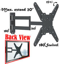 "Full Motion Swivel Tilt TV WALL MOUNT BRACKET 40"" 42"" 46"" 47"" 50"" 55"" INCH LCD"