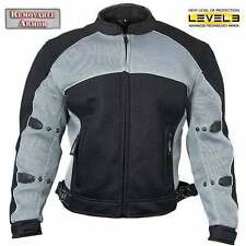 Xelement Men's CF511 Black Mesh level-3 Armored Padded Sport Motorcycle Jacket
