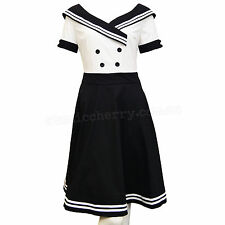 Sailor Dress Rockabilly Pin Up Costume Retro Vintage Cotton Kustom