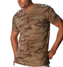 Guys Mens Knit Basic Solid Short Sleeve Camouflage Tee For Casual or Travel Wear