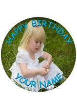 "7.5"" YOUR PERSONALISED EDIBLE PHOTO CAKE TOPPER PRINTED ON ICING"