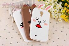 Mobile Phone Cover for Samsung Galaxy S4 I9500 3D Bear Rabbit Soft Silicone Case