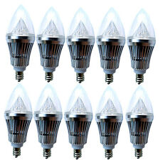 10x E12 Base 6W 9W Dimmable Sharp High Power LED Chandelier Candle Light Bulb