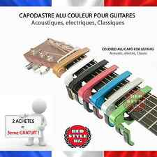 ☆ Capodastre Guitare Alu à pince 7 couleurs ☆ Guitar Color clamp capo 7 colors ☆