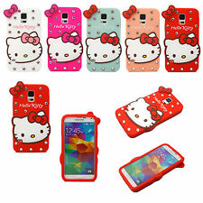 Luxury Bling Diamond Hello Kitty Soft Silicon Case For Samsung Galaxy S5 i9600