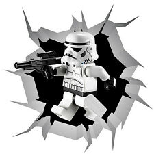 Lego Star Wars Stormtroopers Self Adhesive Sticker Decal Print Wall Crack V2