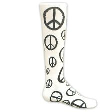 Red Lion Peace Sign Knee High Athletic Socks (Soccer Softball Volleyball)