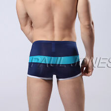 Mode Express Sexy Mens SMOOTH Knit Boxer Briefs Sports Trunks Underwear New Sale
